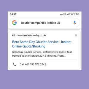 Google Ads Click-to-Call Example