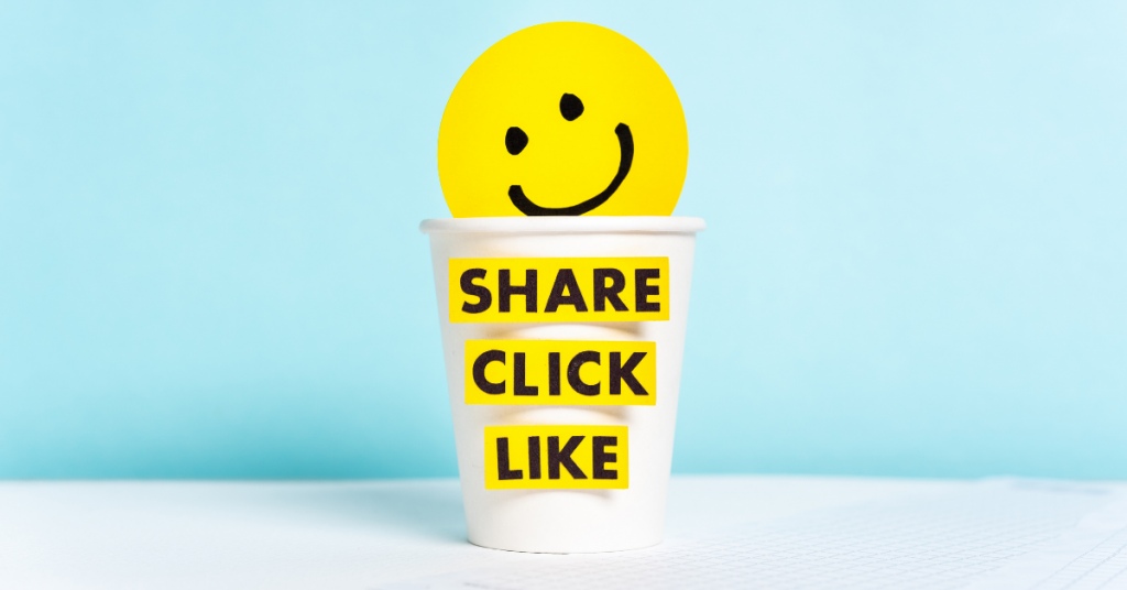 Share, Click, Like